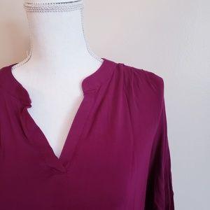 Old Navy Maternity Mandarin Collar Top 3/4 Sleeves